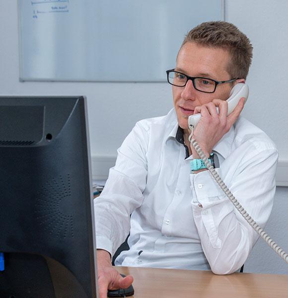 Marcel Krings ist unter anderem Leiter der Bereiche Innovationsförderung, Technologietransfer, Digitalisierung, Gewerbeflächenmanagement sowie Energie und Umwelt